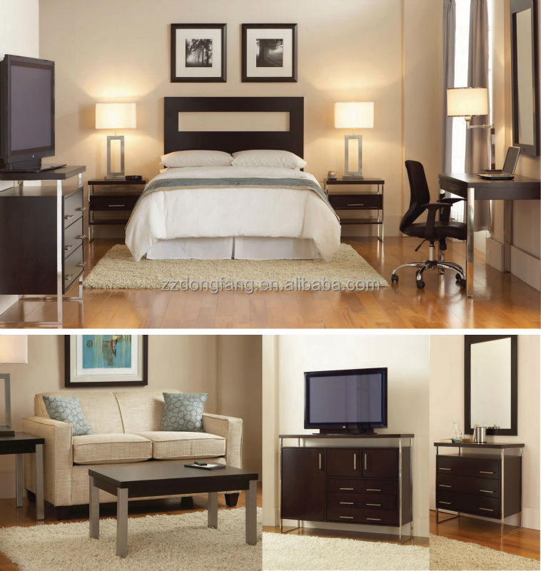 2016 hot sell modern comfortable hotel bedroom furniture (HT-014)