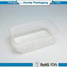 Disposable Plastic Divided Frozen Food Packaging Tray