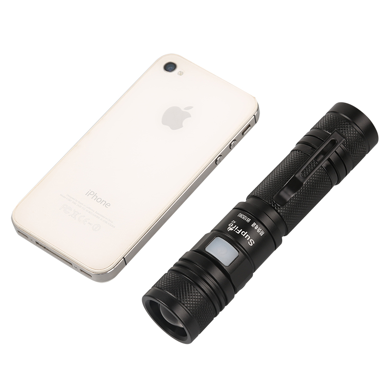 Supfire A2 <strong>mini</strong> USB flashlight rechargeable torch XML2 aluminum focus zoom light
