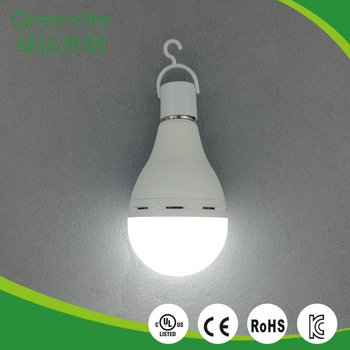 Hot selling indoor lighting rechargeable e27 A80 13W emergency led bulb