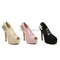12.5 cm lady sexy peep toe platform high heels multi color fish mouth shoes the diamond studded pumps dress shoes PQ3694