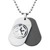 wholesale Plain Stainless Steel Double Dog Tag Necklace With Chain For Men, Dog Tag Necklaces can be customized pendants