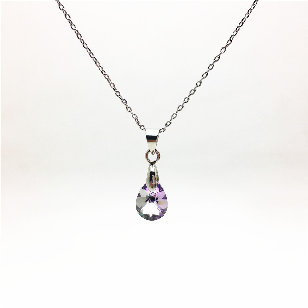 swarovski pearshaped pendant necklace for women05