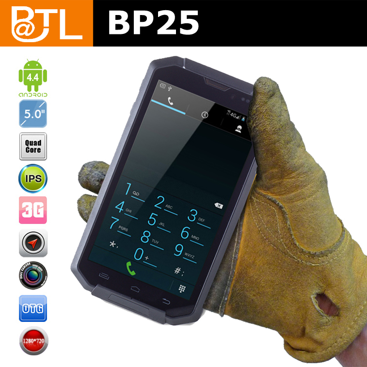 No brand phones BATL BP25 WDF0035 dual core NFC reader waterproof cell phone for construction