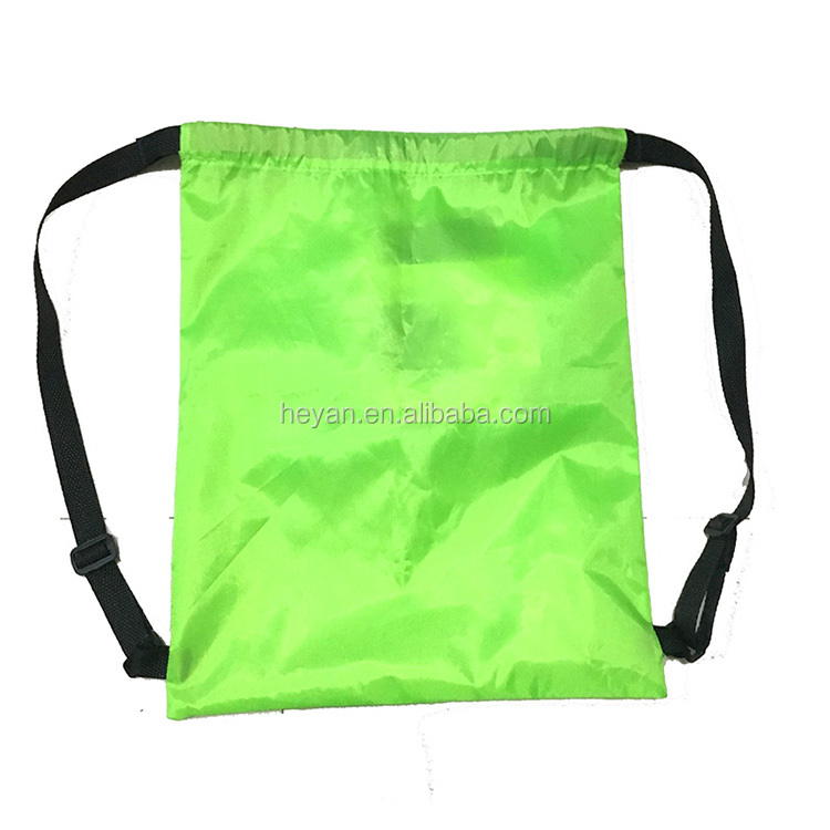 Promotional nylon drawstring backpack bags with logo