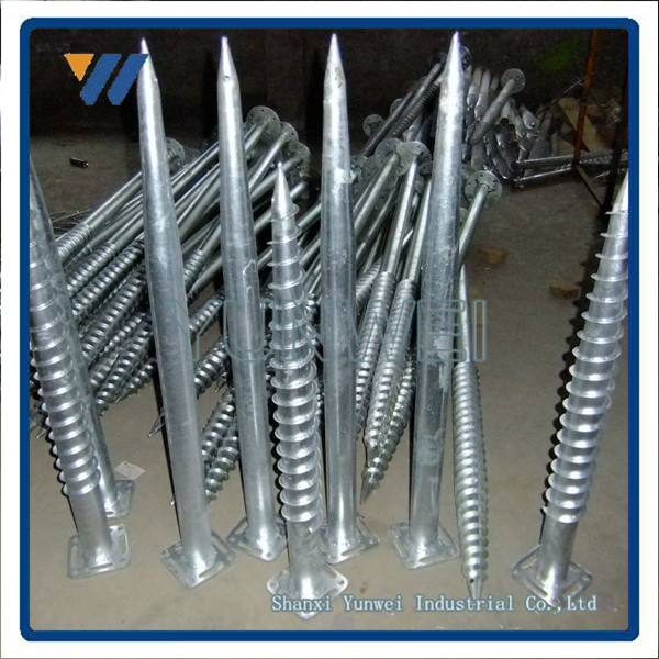 Hot Dipped Galvanized Ground Screw Pole Anchor For The Street Lamp