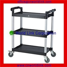 Plastic Structure Plate Load Carrier Handle Dining Trolley