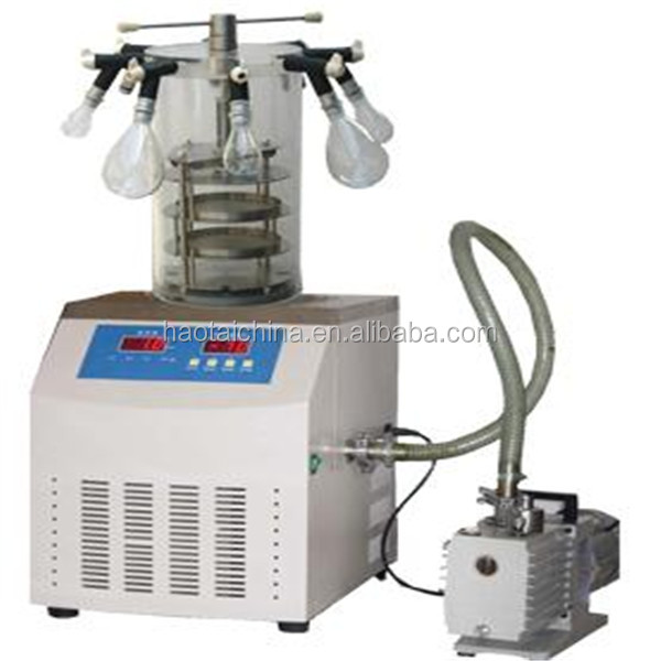 High frequency food Vacuum freeze dryer with LCD display dryer machine/ Lab Vacuum Freeze Dryer with best price
