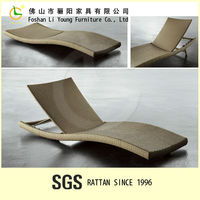 Simple New Design Product Waterproof Garden Furniture Aluminium Outdoor Foldable Sun Lounger , High Quality Rattan Chaise Lounge