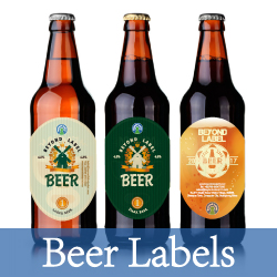 Roll Clear Logo Labels Printing, Custom Coffee Tea Label Transparent Vinyl Circle Sticker