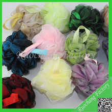 Popular Bath/Shower Wash Body Exfoliate Puff Sponge Mesh Net Ball soft bath flower soft bath