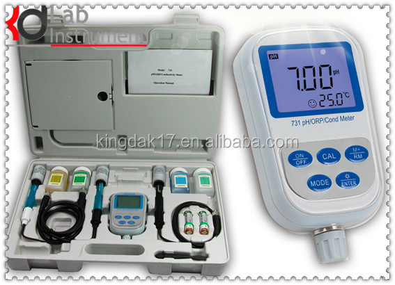 SX731 Portable Handheld pH / mV / ORP / Conductivity / TDS / Salinity / Resistivity Meter (Temp, IP57, CE, ISO)
