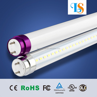 18W Glass led light tube Compatible with UL DLC Listed 240 degree 1900LM led lens 5 degrees led shoes