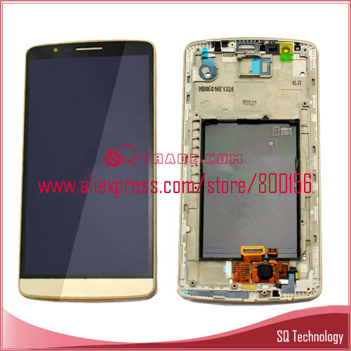 Golden Hot Sell Repair Parts for LG G3 D850 D855 LCD with Screen Touch Digitizer Assembly with Frame
