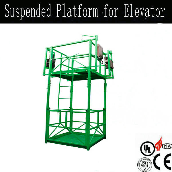 suspended platform for elevator construction/gondola crane