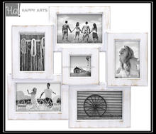 photo frame wood white pictures collage frame for desktop decor