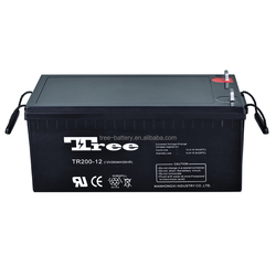 CE approved deep cycle gel battery 12v 200ah factory best price solar battery