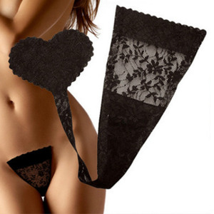 Sticky Lingerie C String Invisiable Women Panty Heart Shape Pants