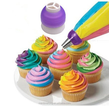 Icing Piping Bag Nozzle Converter Tri-color Cream Coupler Cake Decorating Tools For Cupcake