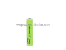 RoHS / FCC Ni-Mh A / AA / 3A / 4A / SC / D rechargeable aaa 600mah 1.2v ni-mh rechargeable battery