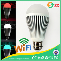 Timer+Group+Music Android IOS E27 RGBW wifi smart led bulb