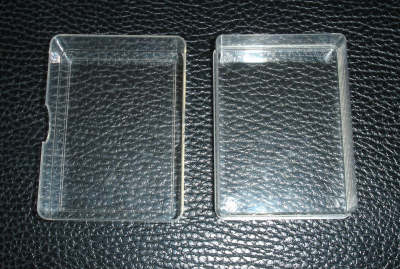 Clear Plastic playing cards box