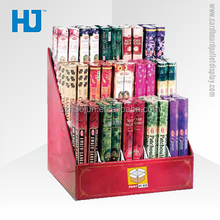 Red Cardboard 3 Tier Counter Display for Incense
