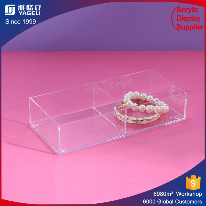 Customized design acrylic jewelry display case with 100% virgin material