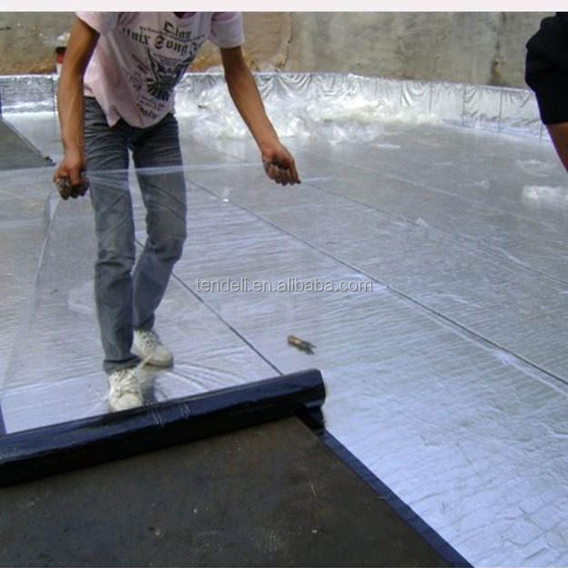 3mm Aluminum Foil Suface SBS Modified Bitumen Waterproofing Materials For construction project roofing