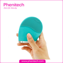 Face Skin Cleaner Scrubber Sonic Facial Cleaning Brush Silicon Vibrating Device