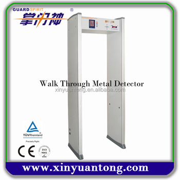 High quality metal detector for distinguish ferrous and non ferrous metal safety check