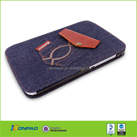 Denim Material Leather Case For Samsung N5100