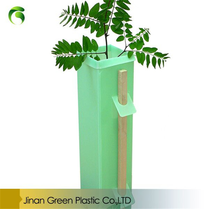 Green PP Plastic Corflute Tree Guard For Young Plant Protection