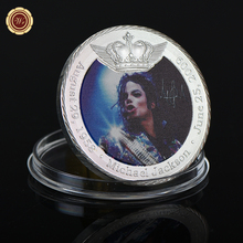 WR Michael Jackson 8th Anniversary Silver Plated Challenge Coin Rare Silver Coin Metal Art Crafts for Halloween Gifts