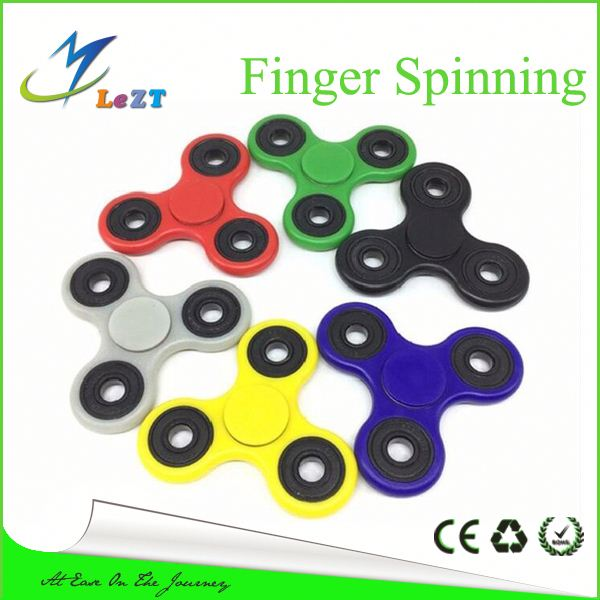 in stokcs New Triangle Hand Spinner Finger Spinning Top Child Adults Plastic ABS Gyroscope Toy For Autism and ADHD Rotation Time