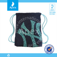 2014 custom printed polyester drawstring sports bag