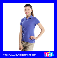 Summer fashional plain dyed polo collar t shirt wholesale women's slim fit quick dry breathable polo shirt