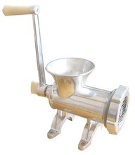 Aluminium manual meat grinder No.12 with pure knife and plate