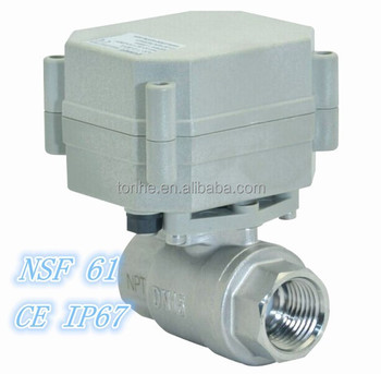 Stable 1/2'' 316 Stainless Steel Electric Ball Valve with spring return (T15-S2-A)
