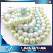 2mm round blue glass pearl beads for wedding decoration