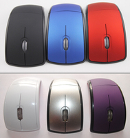 Stock New design 2.4Ghz Foldable Wireless Mouse Novelty USB Optical Mouse