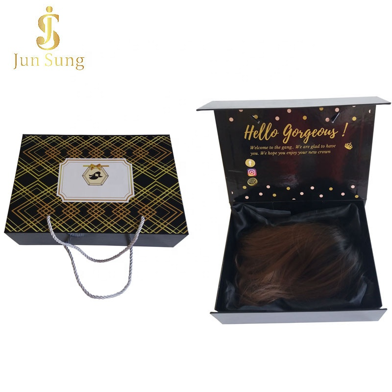 Wholesale Custom Hair Drawstring Satin Packaging Bag