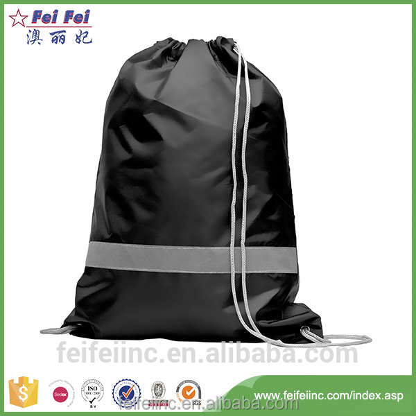 Factory audit customized printing small nylon drawstring bags wholesale