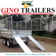 heavy duty 45*45mm Square dump trailer