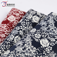 wholesale 100% cotton poplin printed fabric for ladies