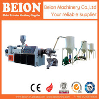 BEION DOUBLE SCREW LARGE DIAMETER HIGH QUALITY PVC PELLET EXTRUSION LINE EXTREUDRING