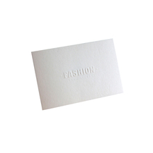 China Wholesale Embossed Paper Hang Tag For Clothing