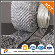 stainless steel gas liquid filter wire meshknitted filters wire mesh/hexagonal hole shape and galvanized iron wire