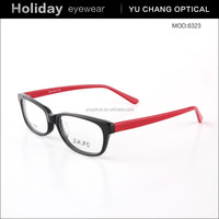 2015 New model fashionable bright color name brand eyewear frames manufacture spectacles frames