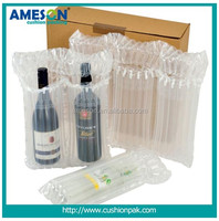 Newest design high quality plastic packing wine bottle air column bags